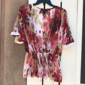 Alyx watercolor sheer kimono wrap